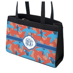 Blue Parrot Zippered Everyday Tote (Personalized)