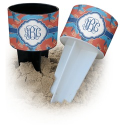 Blue Parrot Beach Spiker Drink Holder (Personalized)