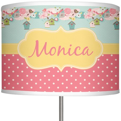 """Easter Birdhouses 13"""" Drum Lamp Shade (Personalized)"""