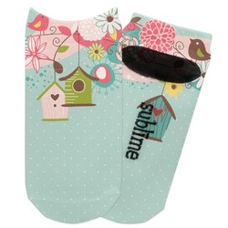 Easter Birdhouses Adult Ankle Socks (Personalized)