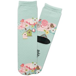 Easter Birdhouses Adult Crew Socks (Personalized)