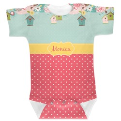 Easter Birdhouses Baby Bodysuit (Personalized)
