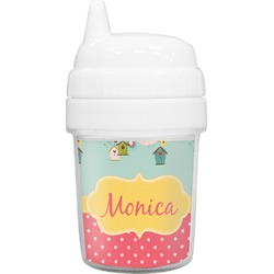 Easter Birdhouses Baby Sippy Cup (Personalized)