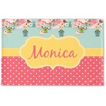 Easter Birdhouses Woven Mat (Personalized)