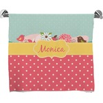 Easter Birdhouses Full Print Bath Towel (Personalized)