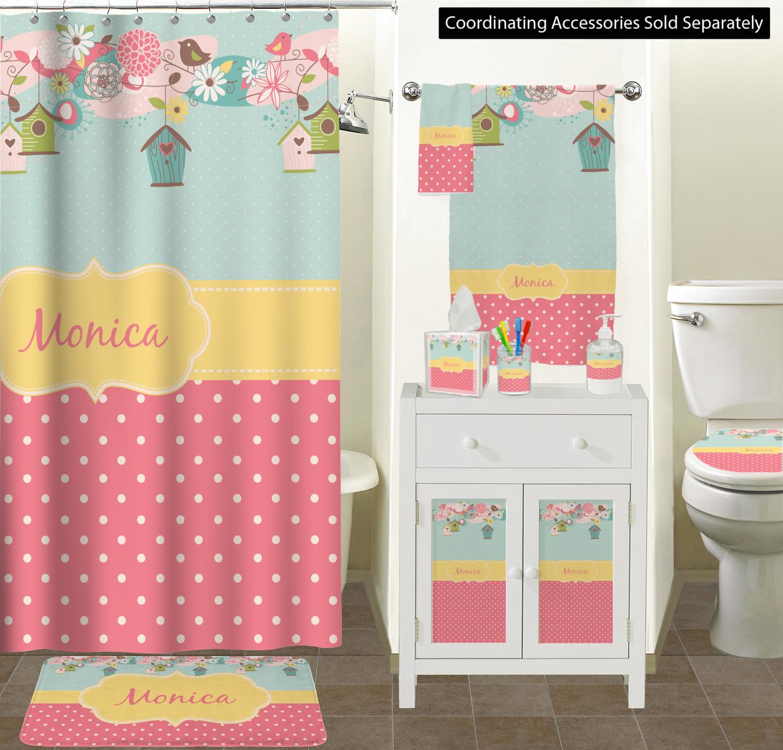 Curtain Sizes Easter Birdhouses Bathroom Scene