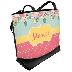 Easter Birdhouses Beach Tote Bag (Personalized)