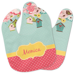 Easter Birdhouses Baby Bib w/ Name or Text