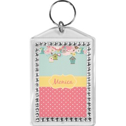 Easter Birdhouses Bling Keychain (Personalized)
