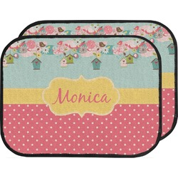 Easter Birdhouses Car Floor Mats (Back Seat) (Personalized)