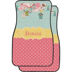 Easter Birdhouses Car Floor Mats (Front Seat) (Personalized)