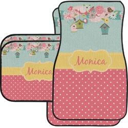 Easter Birdhouses Car Floor Mats (Personalized)