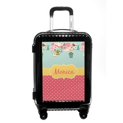 Easter Birdhouses Carry On Hard Shell Suitcase (Personalized)