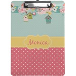 Easter Birdhouses Clipboard (Personalized)