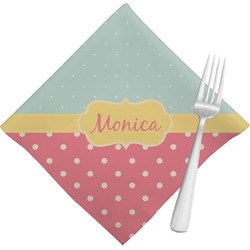 Easter Birdhouses Cloth Napkins (Set of 4) (Personalized)