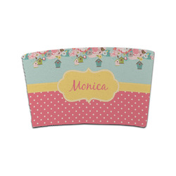 Easter Birdhouses Coffee Cup Sleeve (Personalized)