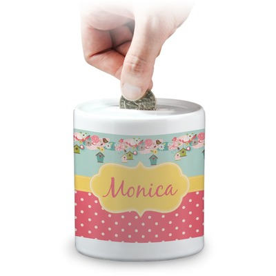 Easter Birdhouses Coin Bank (Personalized)