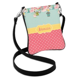 Easter Birdhouses Cross Body Bag - 2 Sizes (Personalized)