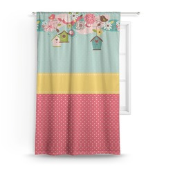 Easter Birdhouses Curtain (Personalized)