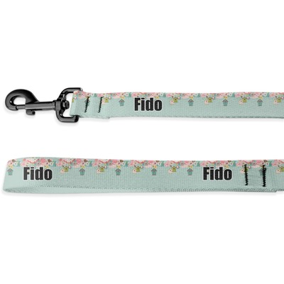 Easter Birdhouses Deluxe Dog Leash (Personalized)