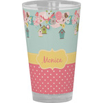 Easter Birdhouses Drinking / Pint Glass (Personalized)