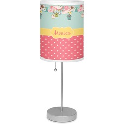 "Easter Birdhouses 7"" Drum Lamp with Shade (Personalized)"