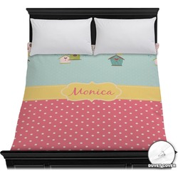 Easter Birdhouses Duvet Cover (Personalized)