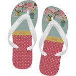 Easter Birdhouses Flip Flops (Personalized)