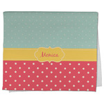 Easter Birdhouses Kitchen Towel - Full Print (Personalized)