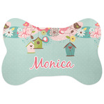 Easter Birdhouses Bone Shaped Dog Food Mat (Personalized)