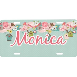 Easter Birdhouses Front License Plate (Personalized)