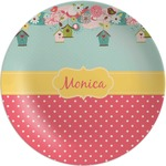 Easter Birdhouses Melamine Plate (Personalized)