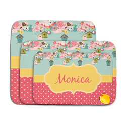 Easter Birdhouses Memory Foam Bath Mat (Personalized)