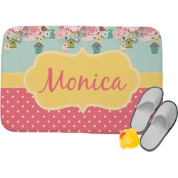 Easter Birdhouses Memory Foam Bath Mat (Personalized)
