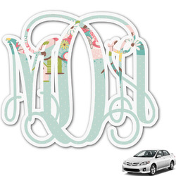 Easter Birdhouses Monogram Car Decal (Personalized)