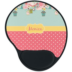Easter Birdhouses Mouse Pad with Wrist Support