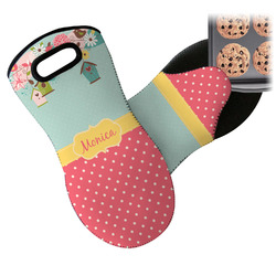 Easter Birdhouses Neoprene Oven Mitt (Personalized)