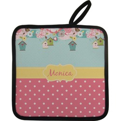 Easter Birdhouses Pot Holder (Personalized)