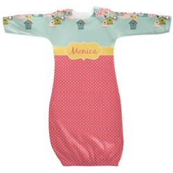 Easter Birdhouses Newborn Gown (Personalized)