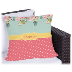Easter Birdhouses Outdoor Pillow (Personalized)