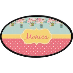 Easter Birdhouses Oval Trailer Hitch Cover (Personalized)