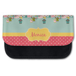 Easter Birdhouses Canvas Pencil Case w/ Name or Text