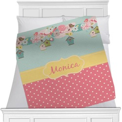 Easter Birdhouses Blanket (Personalized)