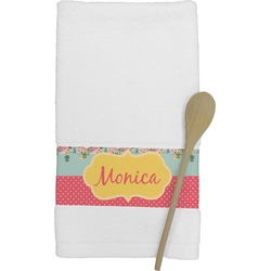 Easter Birdhouses Kitchen Towel (Personalized)