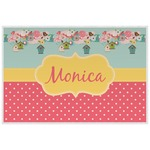 Easter Birdhouses Laminated Placemat w/ Name or Text