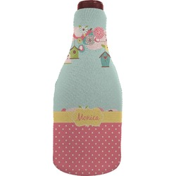 Easter Birdhouses Wine Sleeve (Personalized)