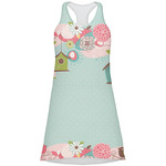 Easter Birdhouses Racerback Dress (Personalized)