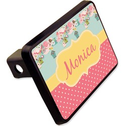 "Easter Birdhouses Rectangular Trailer Hitch Cover - 2"" (Personalized)"