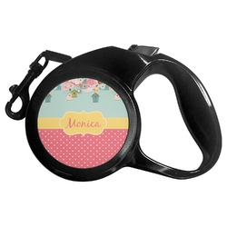 Easter Birdhouses Retractable Dog Leash (Personalized)