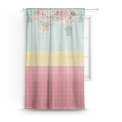 Easter Birdhouses Sheer Curtains (Personalized)